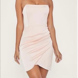 MESHKI satin pink corset dress